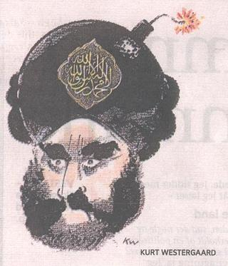 The image of Mohammed that sparked off the Danish Cartoon Controversy of 2005